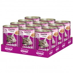 Whiskas Adult 1+ mit Lachs in Gelee 12x400g