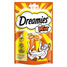 Dreamies Katzensnack Mix mit Huhn+Käse 60g