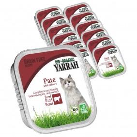 Yarrah Katzenfutter Bio Pate Rind Zichorie 16x100g