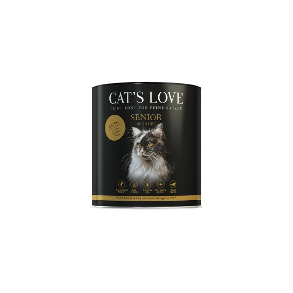 Cat's Love Trockenfutter Senior Ente 400g