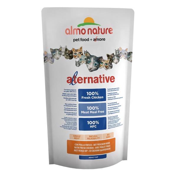 Haustier: Almo Nature Alternative dry Cat Huhn und Reis 750g