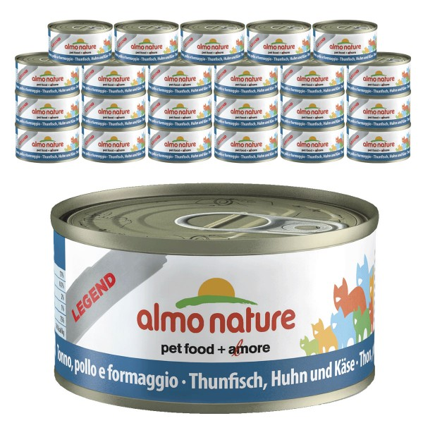 Almo Nature Legend Katzenfutter 24x70gThunfisch, Huhn & Käse