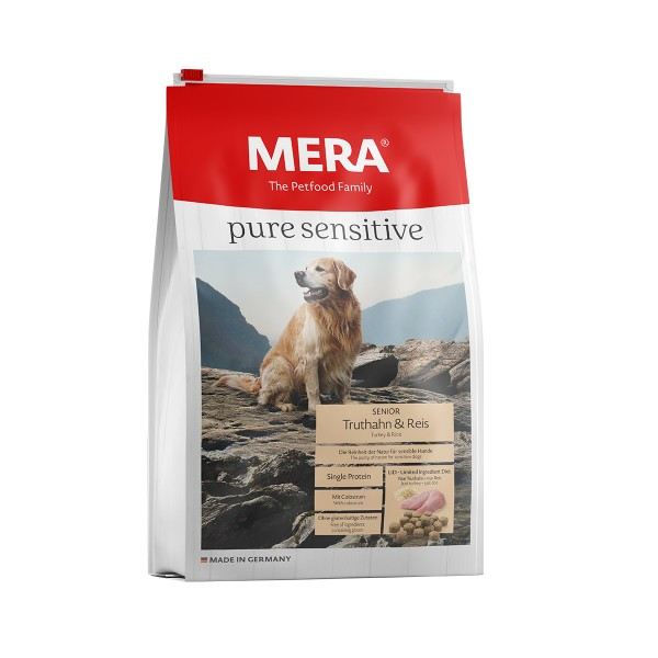 MERA pure sensitive Trockenfutter Senior Truthahn&Reis