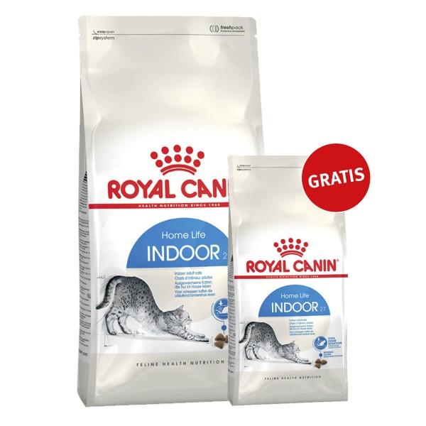 Royal Canin Katzenfutter Indoor 27- 10kg+2kg gratis