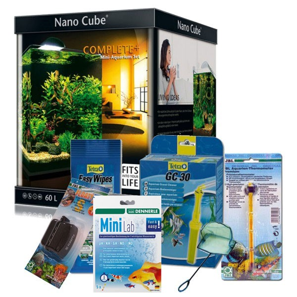 Dennerle NanoCube Complete Plus 60l Aquarium Set + Zubehör-Set