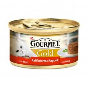 Gourmet Katzenfutter Gold Raffiniertes Ragout Rind