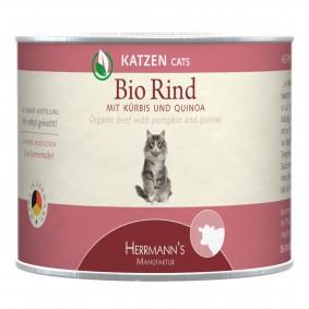 Herrmanns Bio Katzenfutter Rind mit Kürbis und Quinoa