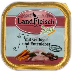 Landfleisch Cat Schlemmertopf Geflügel & Entenleber 100g