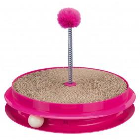 Trixie Spielplatte Scratch & Catch, Kunstoff/Pappe, pink