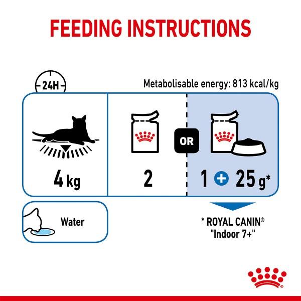 ROYAL CANIN INDOOR 7+ Sterilised in Gelee Nassfutter für Wohnungskatzen ab 7 Jahren