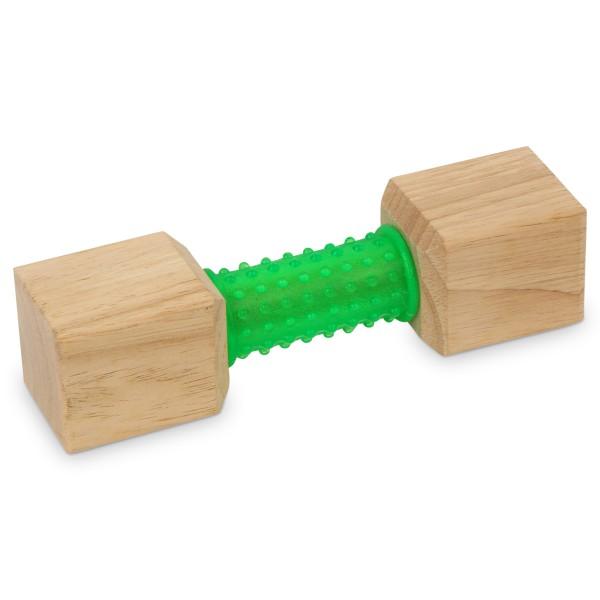 Earthy Pawz Holz Hundespielzeug Quader mit Gummi