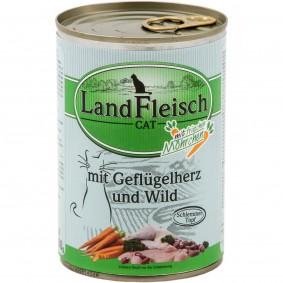 Landfleisch Cat Katzen-Nassfutter Schlemmertopf Geflügelherzen & Wild