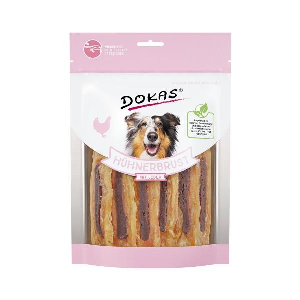 Dokas Hundesnack Hühnerbrust mit Leber 220g