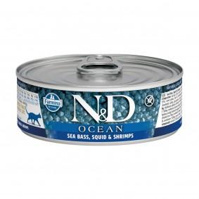 N&D Cat Ocean Seebarsch & Tintenfischgarnelen