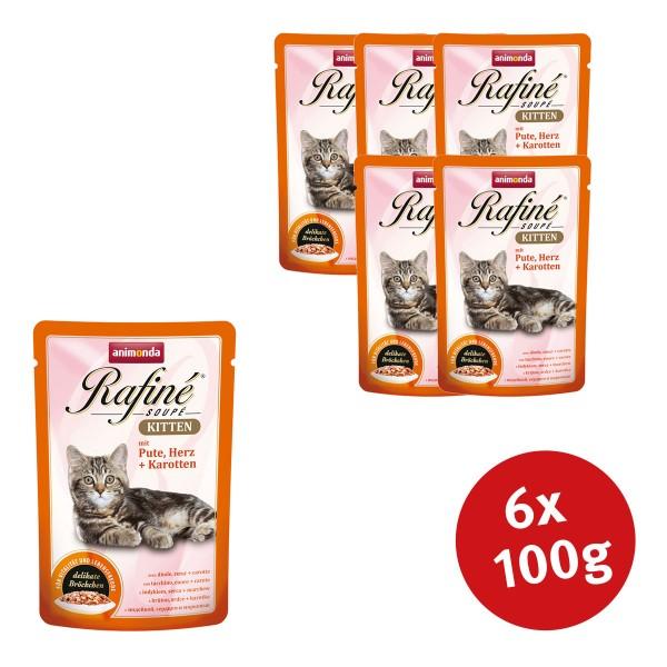 Animonda Rafine Soupe Kitten Pute & Herz + Karotten