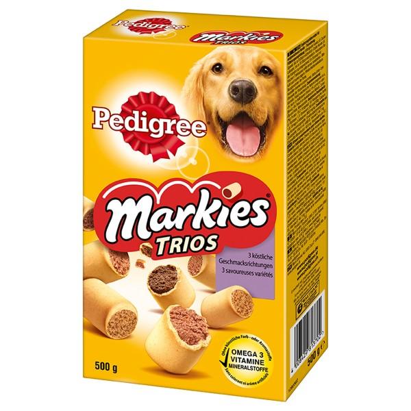 Pedigree Markies Trios mit Huhn, Lamm und Markknochen 500g