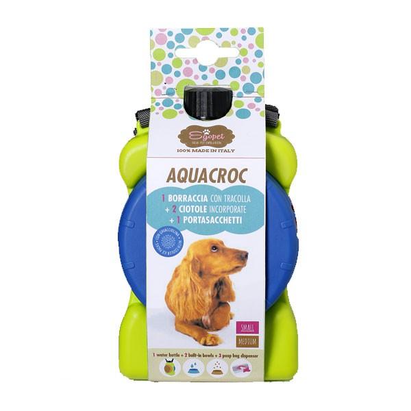 Egopet Aquacroc Hundetrinkflasche small inkl. Kühlakku 0,4l
