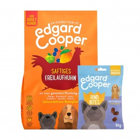 Edgard & Cooper Frisches Freilaufhuhn 12kg + 50g Bites Rind gratis