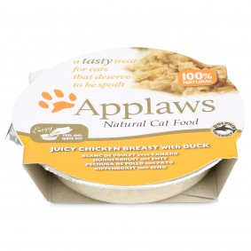 Applaws Cat šťavnatá kuřecí prsa s kachním masem