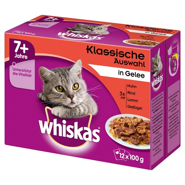 Whiskas Senior 7+ Fleischauswahl in Gelee 12x100g
