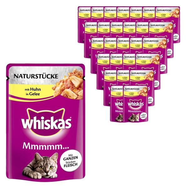 Whiskas Katzenfutter Mmmm... mit Huhn in Gelee