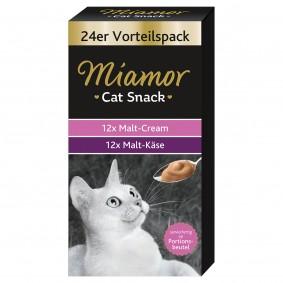 Miamor Cat Snack Cream Vorratspackung 24x15g