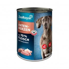 ZooRoyal Hunde-Nassfutter mit Entenherzen