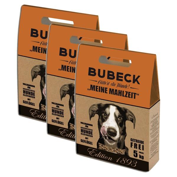 Bubeck Hunde-Trockenfutter Edition 1893 Geflügel 3x5kg