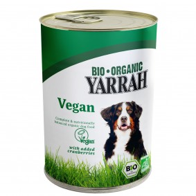 Yarrah Hundefutter Bio Bröckchen VEGA mit Cranberries 12x380g