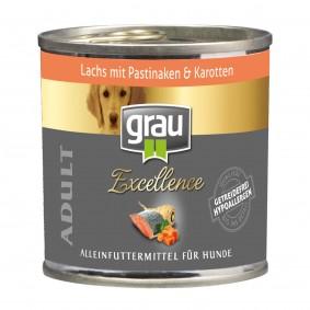 Grau Hundefutter Excellence Adult Lachs mit Pastinaken und Karotten