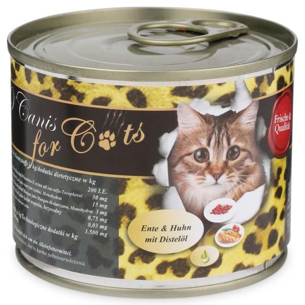 OCanis Katzenfutter Ente, Huhn und Distelöl 200g - 200g