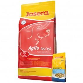 Josera Agilo mit Fisch, Geflügel & Reis 15 kg + Josera Knuspies 1,5kg GRATIS