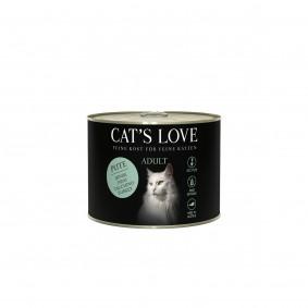 Cat's Love Nassfutter Pute Pur mit Lachsöl und Katzengamander