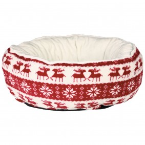 Trixie Xmas Bett Santa ø50cm in rot und creme