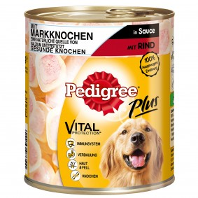 Pedigree Plus Markknochen mit Rind in Sauce