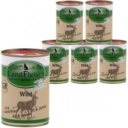 Landfleisch Dog Wolf Sensibel Wild 6x400g