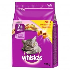Whiskas Trockenfutter 7+ mit Lachs 950g