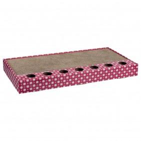 Trixie Kratzpappe mit Spielzeug - pink