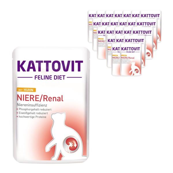 KATTOVIT Felinie Diet Niere/Renal mit Huhn 24x85g