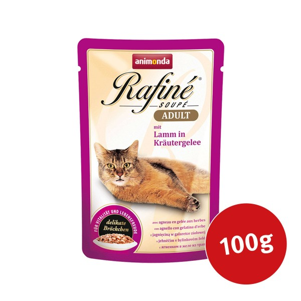Animonda Katzenfutter Rafiné Soupé Adult mit Lamm in Kräutergelee
