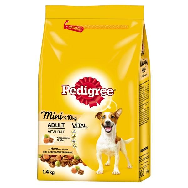 Pedigree Hundefutter Adult Mini Huhn und Gemüse 1,4kg