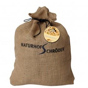 Naturhof Schröder Paille ensoleillée en sac de toile de jute