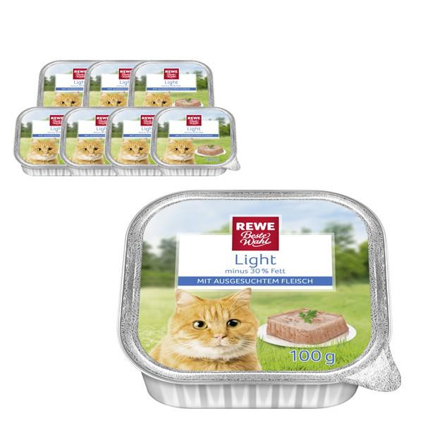 REWE Beste Wahl Katzenfutter Light mit ausgesuchtem Fleisch