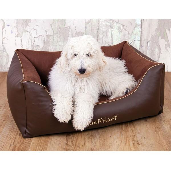 Knuffelwuff Leder-Velour Hundebett Ray 3XL 155cmx105cm