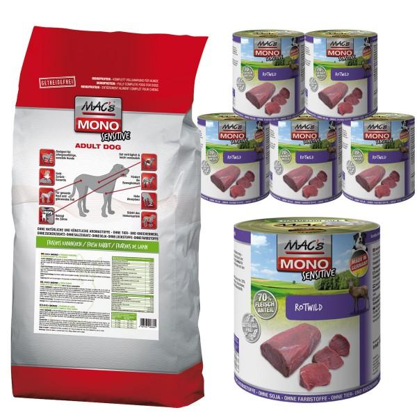 Mac's Dog Mono Trocken- und Nassfutter für Hunde Kombipaket