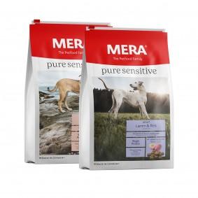 Sparpaket Meradog pure sensitive Lachs & Reis / Lamm & Reis 2x12,5kg