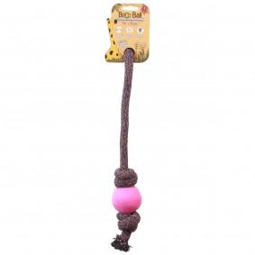 BecoPets míček na hraní s lankem, růžový