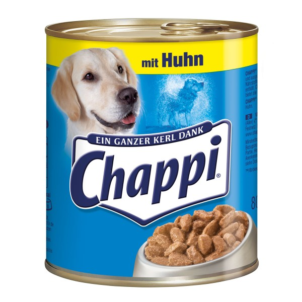 Chappi Hundefutter mit Huhn 12x800g
