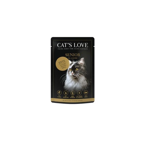 Cat's Love Nassfutter Senior Ente
