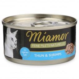 Miamor Katzenfutter Feine Filets Naturelle Thunfisch und Shrimps